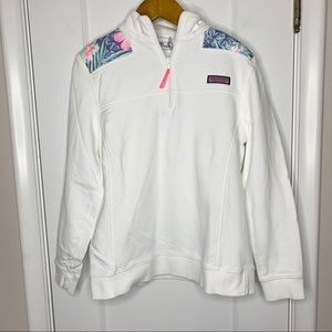Vineyard Vines shep patch half zip pullover M